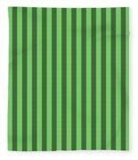 Spring Green Striped Pattern Design Fleece Blanket