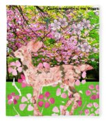 Spring Greeting With Poem Fleece Blanket