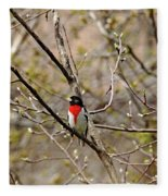 Spring Grosbeak Fleece Blanket