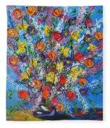 Spring Has Sprung- Abstract Floral Art- Still Life Fleece Blanket