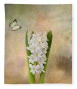 Spring Hyacinth Fleece Blanket