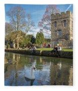 Spring In Canterbury Fleece Blanket