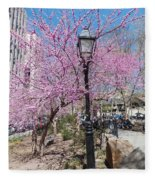 Spring In  Columbus Park 1 Fleece Blanket