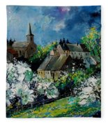 Spring In Fays Famenne Fleece Blanket