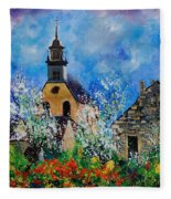 Spring In Foy Notre Dame Dinant Fleece Blanket