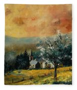 Spring In Gendon Fleece Blanket