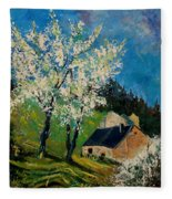 Spring In Hierges  Fleece Blanket