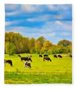 Spring In Holland-1 Fleece Blanket