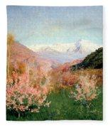 Spring In Italy Fleece Blanket