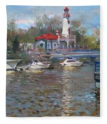 Spring In Lake Shore Fleece Blanket