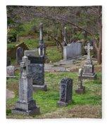 Spring In Oak Hill Cemetery #4 Fleece Blanket