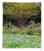 Spring In Texas Fleece Blanket
