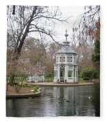 Spring In The Aranjuez Gardens Spain Fleece Blanket