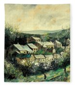 Spring In The Ardennes Belgium Fleece Blanket