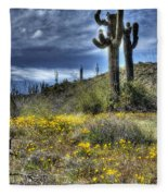 Spring In The Desert  Fleece Blanket