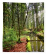 Spring In The Forest Fleece Blanket