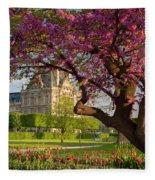 Spring In The Garden Fleece Blanket