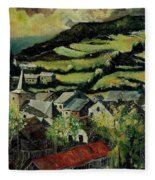Spring In Vresse Ardennes Belgium Fleece Blanket