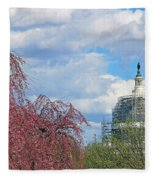 Spring In Washington And Dressed In Scaffolding Fleece Blanket