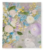 Spring Into Easter Fleece Blanket