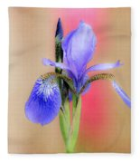Spring Iris 2 Fleece Blanket