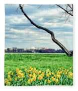 Spring Jog On The Potomac Fleece Blanket