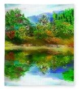 Spring Lake Fleece Blanket