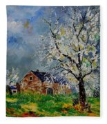 Spring Landscape Fleece Blanket