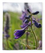 Spring Larkspur Fleece Blanket