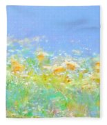 Spring Meadow Abstract Fleece Blanket