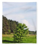 Spring Meadow Fleece Blanket