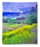 Spring Morning Along The Channel Parkway Fleece Blanket