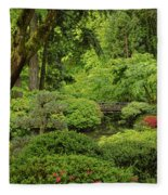 Spring Morning In The Garden Fleece Blanket