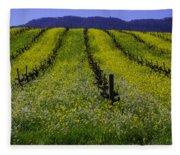 Spring Mustard Field Fleece Blanket