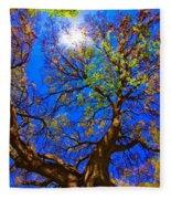 Spring Oak Fleece Blanket