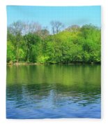 Spring On Barbadoes Island Fleece Blanket
