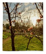 Spring Orchard In Williamsburg Fleece Blanket