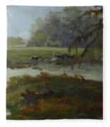 Spring Pasture Fleece Blanket