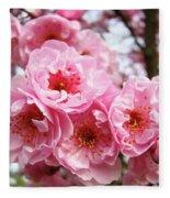 Spring Pink Tree Blossoms Art Prints Baslee Troutman Fleece Blanket