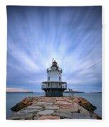 Spring Point Ledge Light Station Fleece Blanket