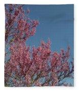 Spring Redbud Tree Fleece Blanket