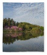 Spring Redbud Trees Fleece Blanket