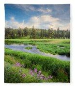 Spring River Valley Fleece Blanket