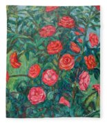 Spring Roses Fleece Blanket