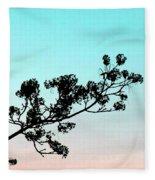 Spring Silhouette Fleece Blanket