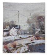 Spring Snowfall Fleece Blanket