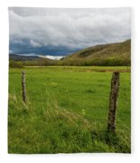 Spring Storm Clouds Fleece Blanket