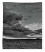Spring Storm Front In Black And White Fleece Blanket