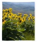 Spring Sunflowers Fleece Blanket