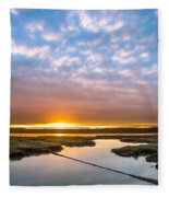 Spring Sunrise On Arcata Bay Fleece Blanket